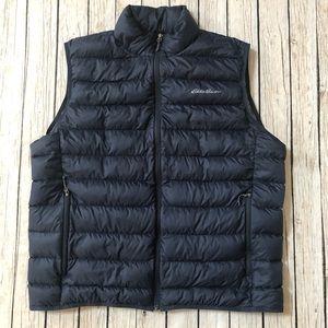 Eddie Bauer Navy Blue puffer Zip Front vest EB650